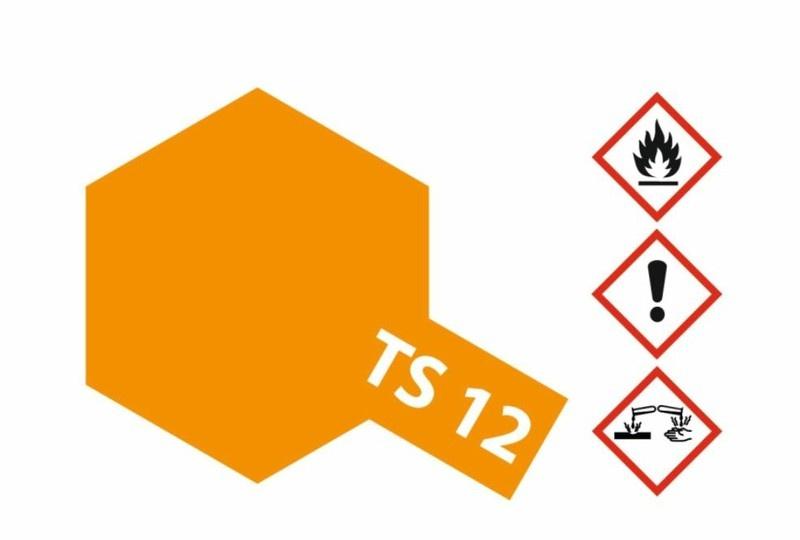 Tamiya Acryl-Sprühfarbe TS-12 Orange glänzend 100ml