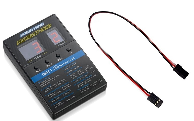 Hobbywing Programmierbox LED Universal Xerun, Ezrun,