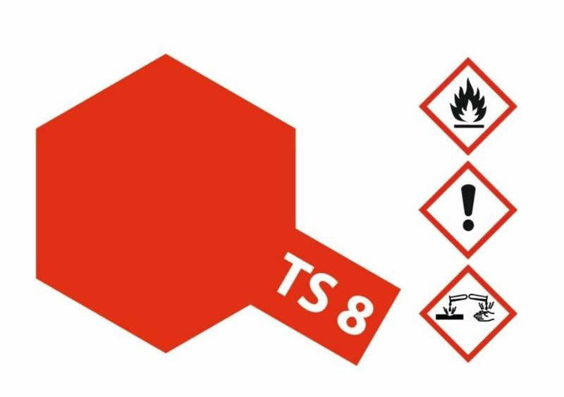 Tamiya Acryl-Sprühfarbe TS-8 Italienisch Rot glänzend 100ml