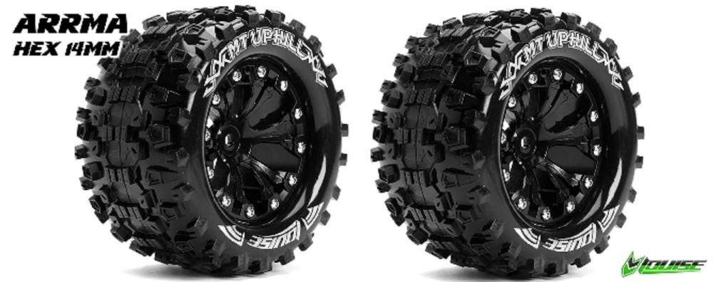 Drift Räder Set rot Komplettrad Reifen Felgen Tamiya M-Chassis Tyre Street
