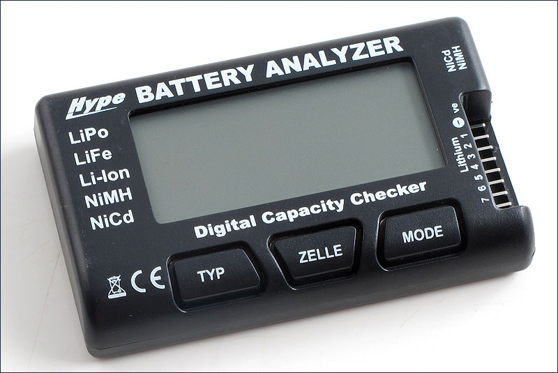 Hype Battery Analyzer #LiPo,LiFe,Nixx