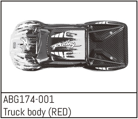 Absima Truck Body (RED)