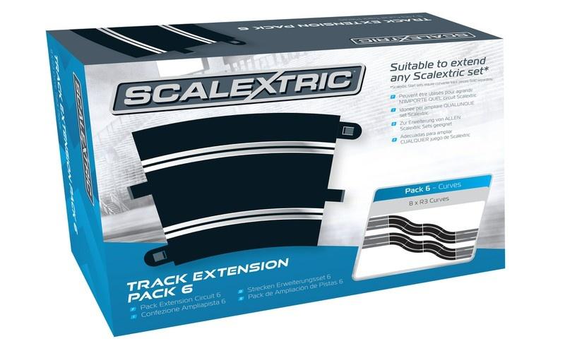 Scalextric Erweiterungs Pack 6 (8) R3/45 Grad Kurve