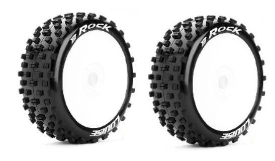 Louise RC B-ROCK Buggy Reifen 1:8 - Fertig Verklebt- Soft