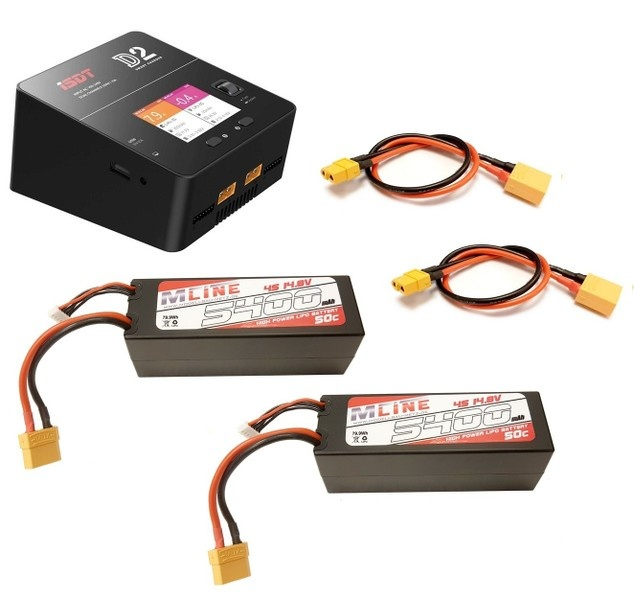 ISDT MLine Ladekabel XT60 Buchse 4mm Buchse passend für HOTA