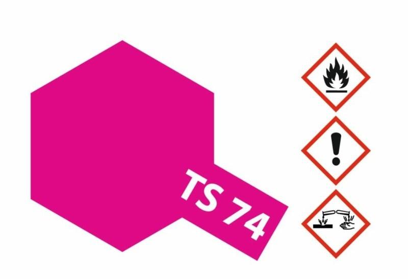 Tamiya Acryl-Sprühfarbe TS-74 Rot Transparent/Klar glänzend