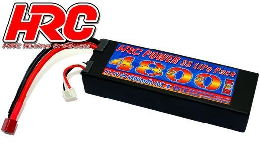 HRC Racing Akku - LiPo 3S - 11.1V 4800mAh 70C - RC Car - HRC