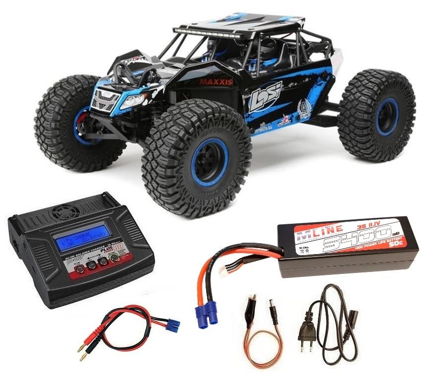 Losi Rock Rey 4WD Rock Racer 2.4GHz AVC blau RTR 1:10