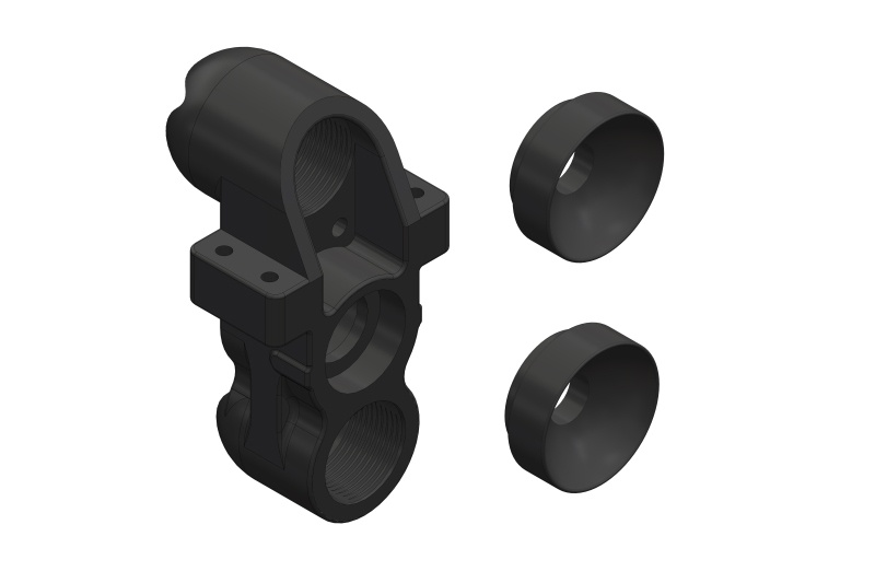 Team Corally Steering Block - Pillow Ball Cup (2) - Front -