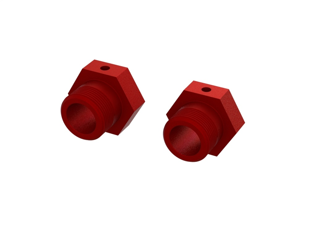 Arrma Aluminum Wheel Hex 24mm (Red) (2) (ARA310928)