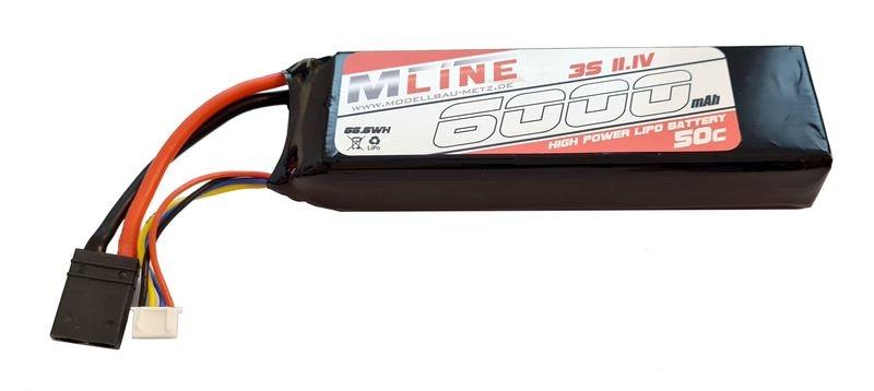MLine High Power LiPo Akku 50C 3S 11.1V 6000mAh