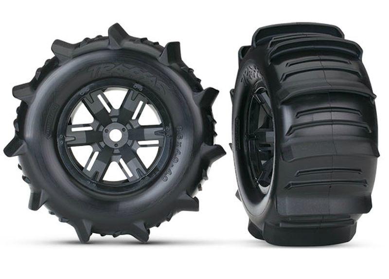 Traxxas Paddle-Reifen auf Felge X-Maxx schwarz (2)