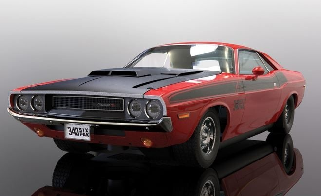 Scalextric 1:32 Dodge Challenger T/A Rot/Schwarz HD