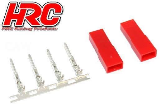 HRC Racing Stecker - JST / BEC weibchen (2 Stk.)