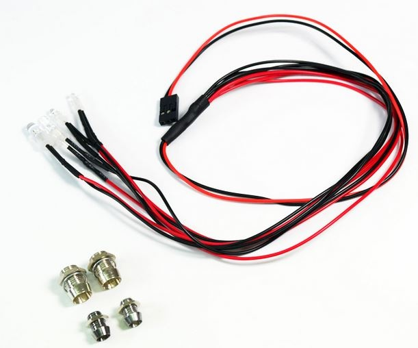 Absima LED Set weiß/rot mit Aluminium Halterung 1:10