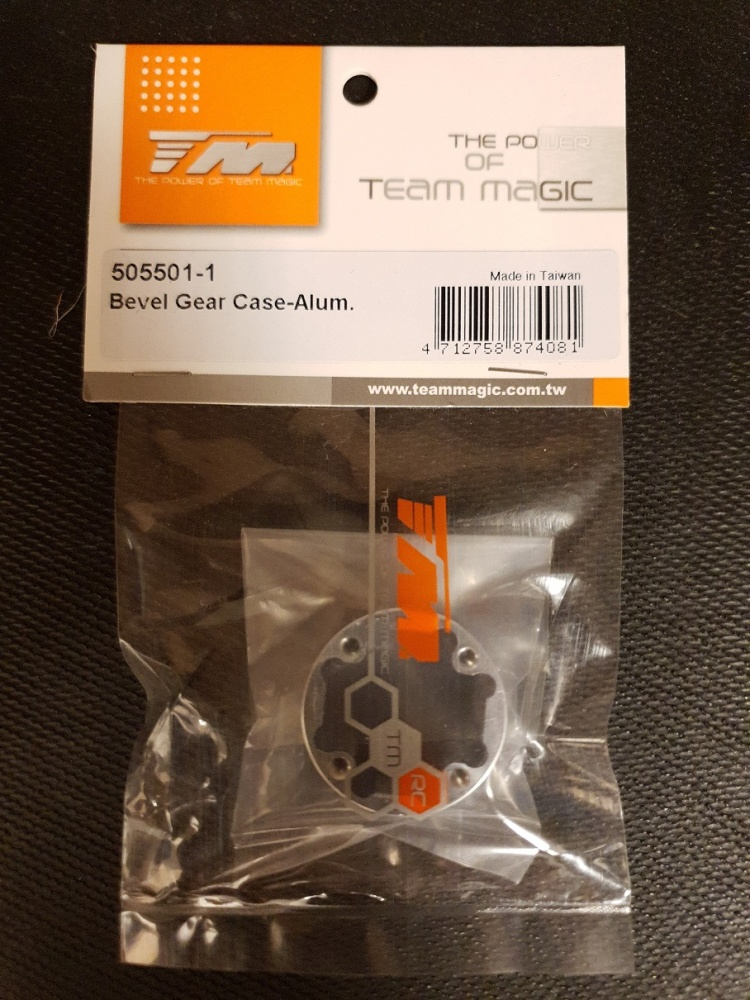 Team Magic Spare Part - E6 V-GEN - Bevel Gear Case-Alum.