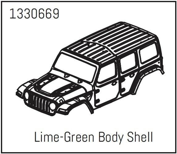 Absima PC Karosserie Lime-Green - Yucatan