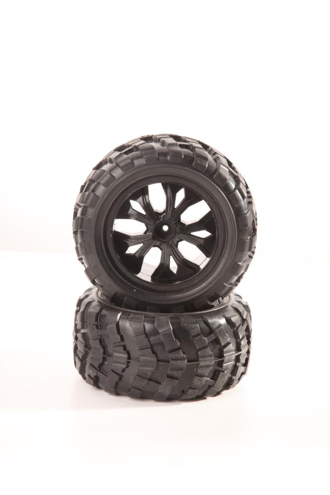 DF-Models Reifen / Felgen schwarz (2)