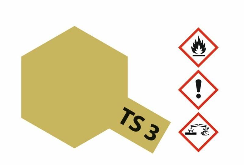Tamiya Acryl-Sprühfarbe TS-3 Dunkelgelb matt 100ml