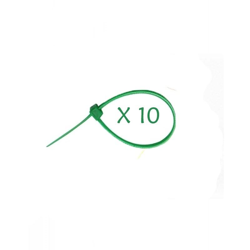 Flexytub Kabelbinder 3mmx100mm Grün (10 Stück)