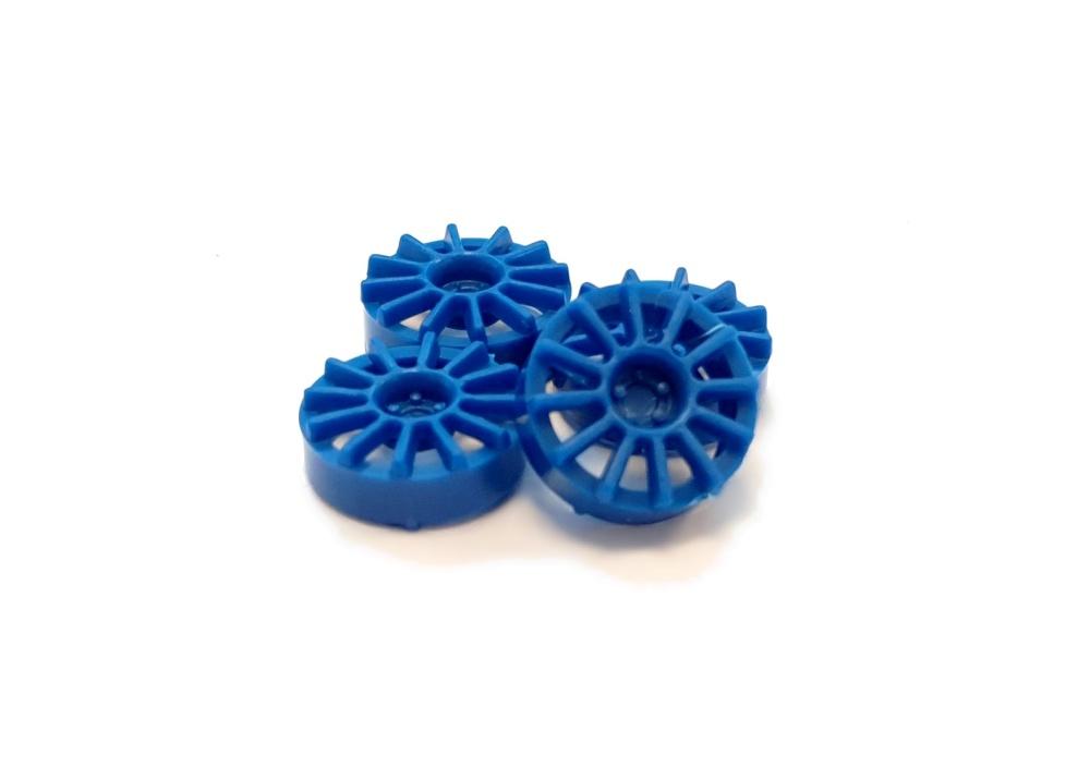NSR Hubcap 17/Felgeneinsätze 12 Spokes Blue (4)