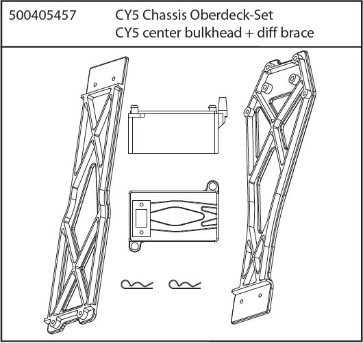 Carson CY-5 Chassis Oberdeck-Set