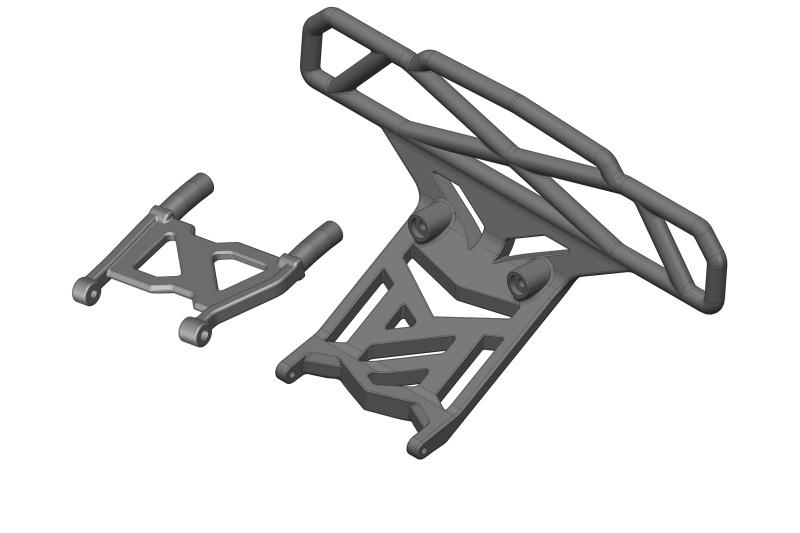 Team Corally Bumper - Bull Bar Type - Rear - Composite