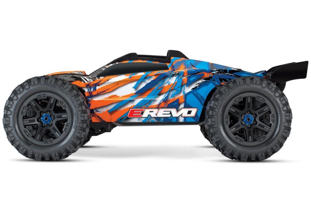 Traxxas E-Revo VXL 4WD Elektro Monster Truck BL blau/orange