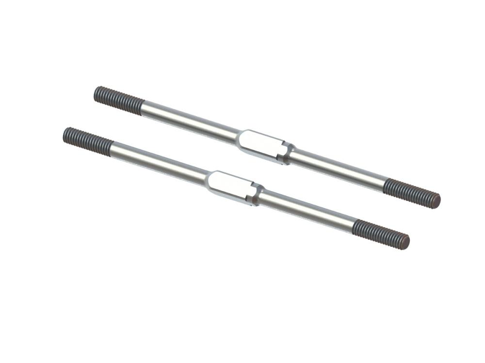 Arrma STEEL TURNBUCKLE M4x95mm (Silver) (2pcs) #ARA340175