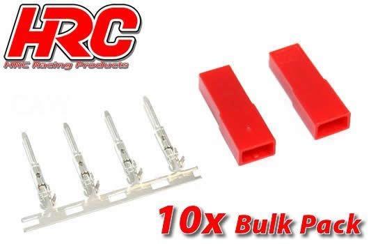 HRC Racing Stecker - JST / BEC weibchen (10 Stk.)
