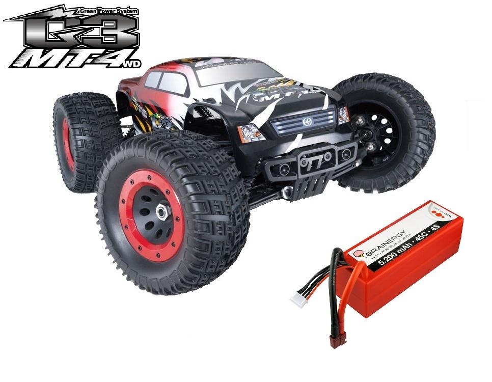 Thunder Tiger MT4 G3 4WD 6s BL Monstertruck 2.4GHz RTR 1:8 &