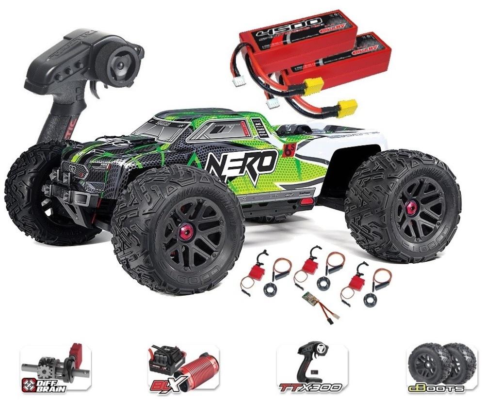 ARRMA NERO 6S EDC 4WD BLX Monster Truck RTR, grün -SPARSET3-
