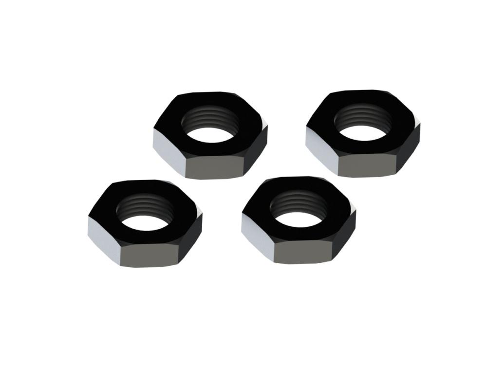 Arrma RC Aluminium Radmutter 17mm,  schwarz (4)