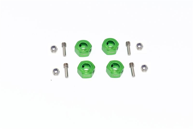 GPM Aluminium Hex Adapter (12mmx7mm) - 12PCS Set for