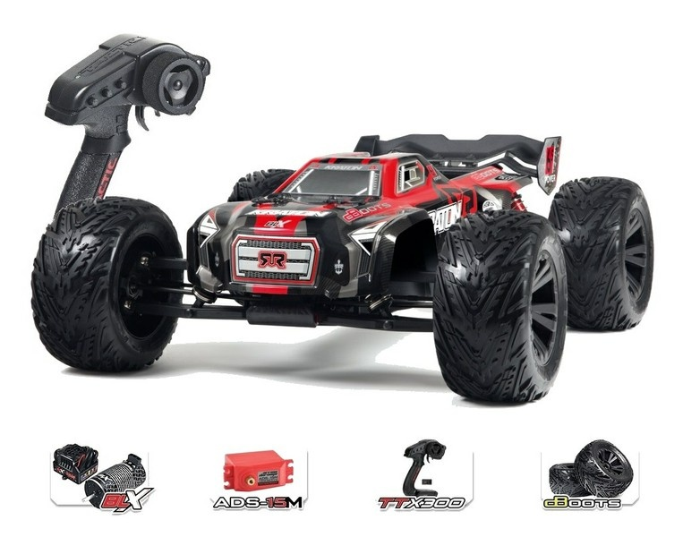 Arrma Kraton 6s BLX 4WD E-Monstertruck 2.4GHz rot RTR 1:8