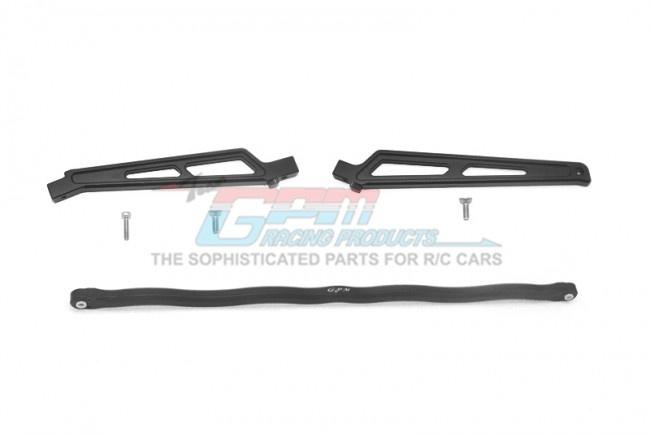 GPM aluminium center brace bar + chassis brace - 6PC SET