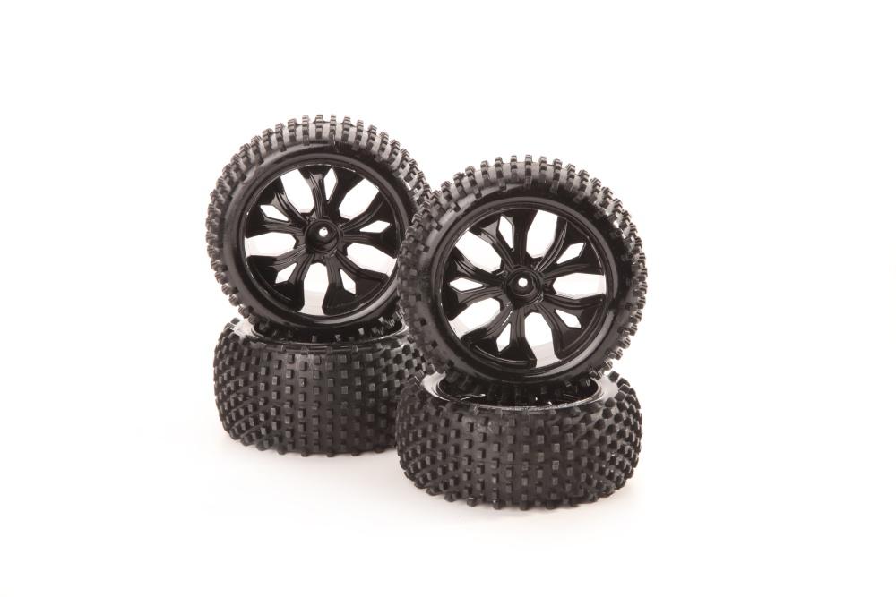 DF-Models Radsatz mit Kunststofffelgen schwarz (4)