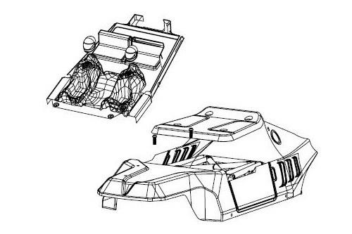Carson Virus 4.1 Race Karosserie-Set