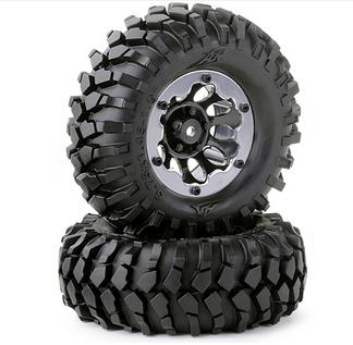 Carson Beadlock Räderset Crawler schwarz 96mm 1:10, 2 Stück