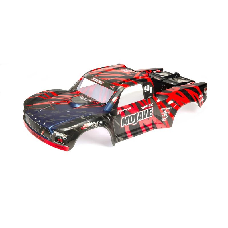 Arrma Finished Body, Black/Red: MOJAVE 6S BLX 1:7