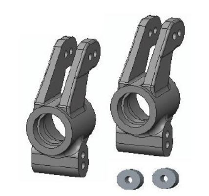 Amewi Rear Hub Carriers AM10T