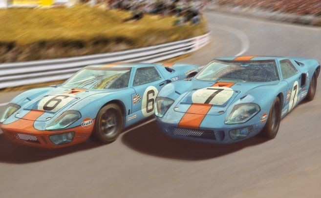 Scalextric 1:32 Ford GT40 1969 Gulf Twin Pack HD