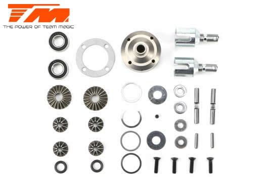 Team Magic Ersatzteil - E6 III BES - Differential Kit (V/H)