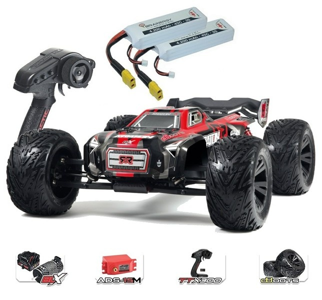 Arrma Kraton 6s BLX 4WD Monstertruck RTR, rot - SPARSET2 -