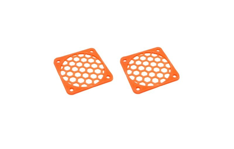 JS-Parts Lüftergitter 35mm / 2 Stück (Set) orange