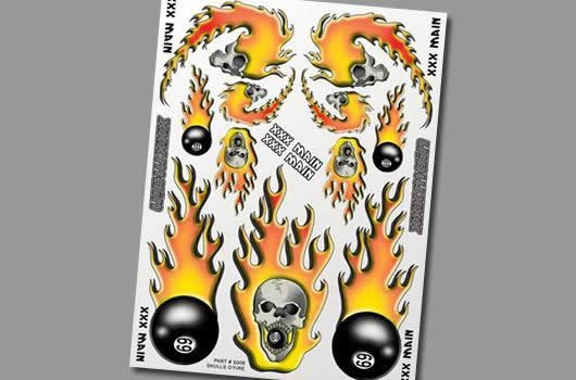 XXX Main Aufkleber - Skulls OFire
