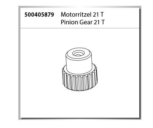 Carson Motorritzel 21T X10 Monster Warrior XL 2.0(500404223)