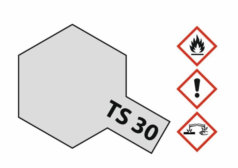 Tamiya Acryl-Sprühfarbe TS-30 Metallic silber glänzend 100ml