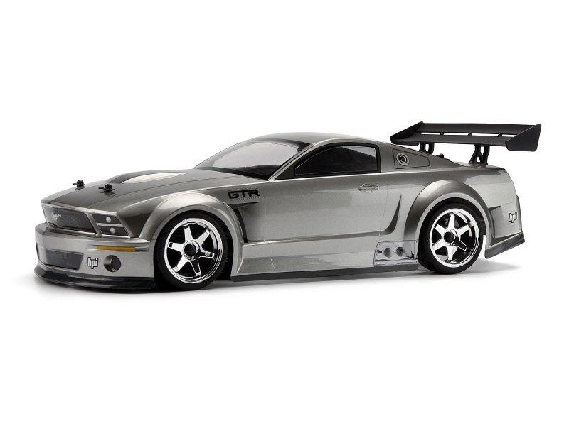 HPI Ford Mustang GT-R Karosserie gunmetall, 200mm 1:10