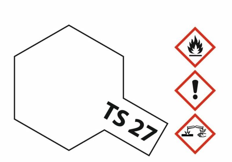 Tamiya Acryl-Sprühfarbe TS-27 Weiss matt 100ml